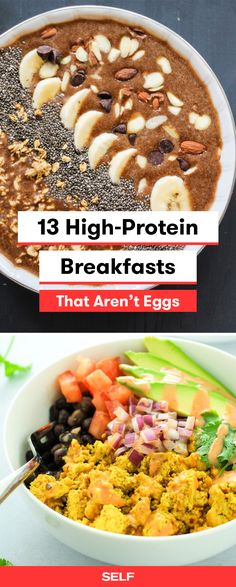 These high protein breakfasts are egg-free and totally healthy. Whether you have plenty of time or you're on the go, these meals are easy to make if you're looking for a filling breakfast with no eggs.