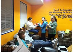 Fellowship time at Youth Group