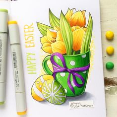"""2,497 Likes, 45 Comments - Lisa Krasnova (cha0tica) (@lisa.krasnova) on Instagram: """"Happy Easter everyone! By the way, my artwork is a part of @leuchtturm1917 Egg hunt quest and…"""""""