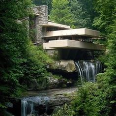 The ever iconic Fallingwater... #perfection  Project by: Frank Lloyd Wright Image via: Lee Sandstead  #homedesign #lifestyle #style #designporn #interiors #decorating #interiordesign #interiordecor #architecture #landscapedesign