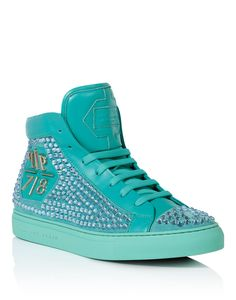 "PHILIPP PLEIN High Sneakers ""Rainbow Warrior"". #philippplein #shoes #"