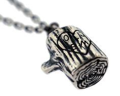 customized engraved stump necklace