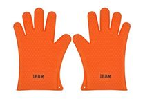 Silicone Cooking Gloves  NonSlip Potholders for Kitchen Cooking  Baking  Oven Mitt for Grilling  BBQ  Heat Resistant Safe Handling of Pots and Pans  2pc  Orange * Click on the image for additional details. Note: It's an affiliate link to Amazon