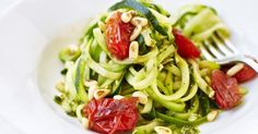 Our ultimate guide to spiralizing and courgetti. Including four different ways to cook courgette noodles; how to avoid soggy courgetti; and what recipes you can use your raw or cooked courgetti in
