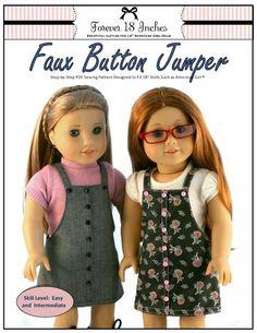 "Faux Button Jumper 18"" Doll Clothes"