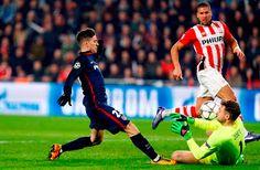 Blog Esportivo do Suíço: Liga dos Campeões - Oitavas de final: Em jogo morno, PSV e Atlético de Madrid empatam