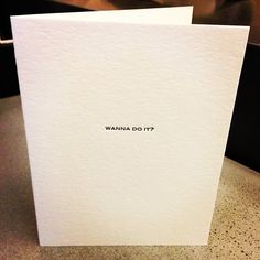 Wanna do it?  Valentines card by Urban Outfitters