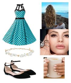 """""""A date on the beach."""" by nocturnalstar ❤ liked on Polyvore featuring Robert Rose and Gianvito Rossi"""
