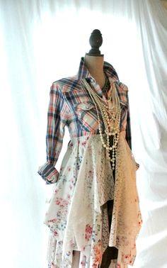 fall jacket bohemian duster boho fall dress by TrueRebelClothing, $115.00