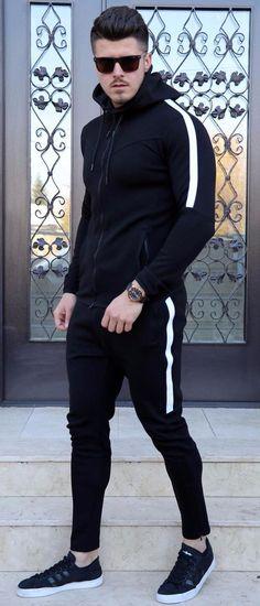 Trening `AIR` - NEGRU - haine barbati Normcore, Collection, Fashion, Moda, Fashion Styles, Fashion Illustrations, Fashion Models