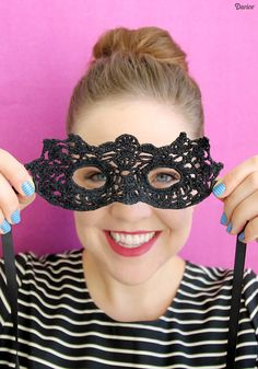 Crochet DIY Masquerade Mask with Free Pattern