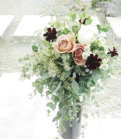 #VressetRose #Wedding #pink #smokypink  #bouquet #clutchbouquet #natural # Flower # Bridal # ブレスエットロゼ #ウエディング# ピンク #スモーキーピンク #シンプル # ブーケ #キャスケードブーケ # ナチュラル# 花#バラ # ブライダル#結婚式#結婚準備#プレ花嫁