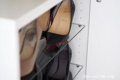 Christian Louboutin <3  It´s all about shoe storage on the blog: http://divaaniblogit.fi/charandthecity/2014/09/16/ikea-besta-kenkakaappi/