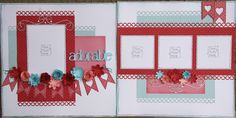 4 photos double page scrapbook layout -createwithheart.ctmh.com created by Joanne Walton