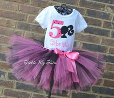 Barbie Inspired Birthday Tutu Outfit...www.ticklemytutu.com