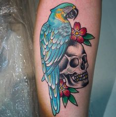 A tattoo which will curiosity you is the parrot tattoo. Parrot tattoos are very talked-about. Parrot tattoos are worn by women and men. The parrot can even have a symbolic Skull Tattoos, Animal Tattoos, Tatoos, Traditional Tattoo Bird, Circus Tattoo, Parrot Tattoo, Tattoo Coloring Book, Anker Tattoo, Dream Tattoos