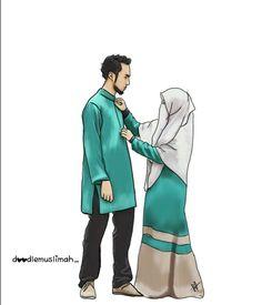 Cute Muslim Couples, Muslim Girls, Muslim Women, Cute Couples, Love Cartoon Couple, Cute Couple Art, Cute Couple Pictures, Niqab, Muslim Couple Photography