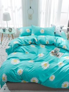 Classic Home Accessories Simple - Set Print Classic Bedding Set Set Simple Bed Sheet Ab Side Duvet Cover Quilt Cover 5 Size. Cute Bed Sheets, Double Bed Sheets, Classic Bedding Sets, Luxury Bedding Sets, Bedroom Classic, Cute Bedroom Decor, Room Ideas Bedroom, Bed Sets, Bed Sheet Sets