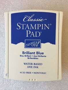 STAMPIN UP CLASSIC WATER BASED DYE INK PAD BRILLIANT BLUE Love Art, My Love, Stampin Up, Base, Ink, Classic, Products, Derby, Stamping Up