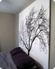 diy-large-scale-art-work (shower curtain art)
