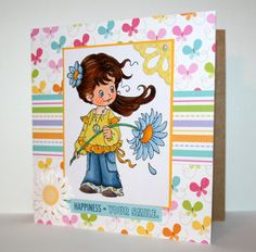 Adorable handmade any occasion card by rbowen on Etsy