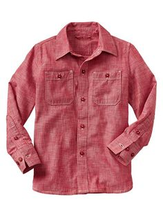 Chambray shirt My son loves the color and style of shirt this might just have to be room in the budget for this