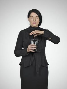Marina Abramović, Portrait of the Artist with a Glass of Water, 2012 on Paddle8
