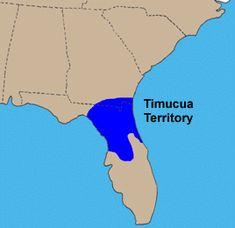 Map of Timucua Indian Territory