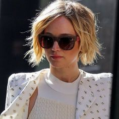 Messy Bob Hairstyle with Blonde Hair - Layered Short Haircuts 2016