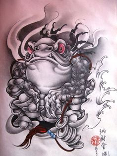 20 Cool Chinese Tattoos Ideas - The Xerxes Frog Tattoos, Mini Tattoos, New Tattoos, Hannya Tattoo, Irezumi Tattoos, Japanese Tattoo Art, Japanese Tattoo Designs, Tattoo Sleeve Designs, Sleeve Tattoos
