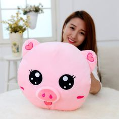 Love Stuffed Animals Pigs Plush For Children Plush Toys Gifts Cushion Peluches Bebe Kawaii Warm Hand Pillow Soft Toy Cute Pillows, Diy Pillows, Decorative Pillows, Softies, Plushies, Baby Sewing Projects, Cute Stuffed Animals, Sewing Pillows, Cute Elephant