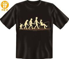 Fun Spruch T-Shirt Evolution: Affe Angler XL - T-Shirts mit Spruch | Lustige und coole T-Shirts | Funny T-Shirts (*Partner-Link)