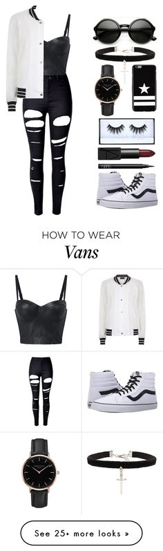 """""""Leather Top!!!"""" by theanonymousme on Polyvore featuring WithChic, Antipodium, Vans, ZeroUV, Vanessa Mooney, Topshop, Givenchy, NARS Cosmetics and Huda Beauty"""