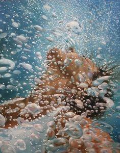 Peintures photoréalisme Underwater par Eric Zener