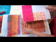 Jane Davies shares her Gelli printing process for making collage papers with Golden Open Acrylics and a special guest :) Gel Printing With Open Acrylics (and Chicken) - YouTube