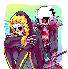Swapfell papyrus and horrortale sans