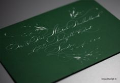 Mixed Script II: Our ornate Spencerian script with added flourishes and decoration.