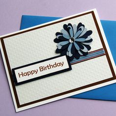 Happy Birthday handmade greeting card simple by thecraftycloset, $3.00