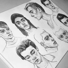 Finally did some studies of guys! ✏ More to come, I'm so behind on doing these #tomaszmro #mrozkiewicz