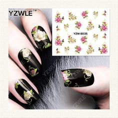 YZWLE  1 Sheet DIY Designer Water Transfer Nails Art Sticker / Nail Water Decals / Nail Stickers Accessories (YZW-8035)
