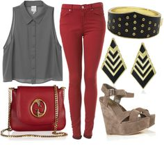 """Are you REDdy for me?"" by ultimatequeenb on Polyvore"