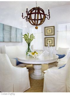 serene beach dining room