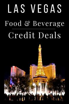 A popular form of promotion or deal offered by Las Vegas hotels comes in the form of a food and beverage credit for booking directly with them. A food and beverage credit allows you a fixed amount of money to spend at the resort. Think of it as a gift card. Check out these current food and beverage credit hotel deals offered by Las Vegas resorts! Las Vegas Resorts, Las Vegas Restaurants, Las Vegas Vacation, Vegas Activities, Free Activities, Las Vegas Free, Las Vegas Strip, Vegas Hotel Rooms, Travel Tips