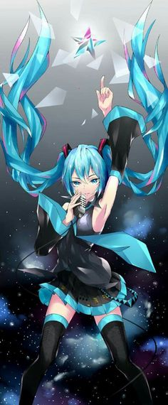 yes I know she is a vocaloid and not technically in an anime but I like her so whatever