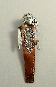 Talilla Is All Torn Up - Art Jewelry Pendant - Repurposed Sterling 1d78181871c