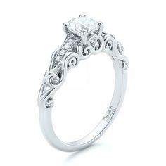Engagement Rings - Custom Filigree and Diamond Engagement Ring