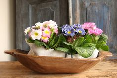 D 146: antique handcarved WOODEN DOUGH BOWL cottonwood by grainsack on Etsy