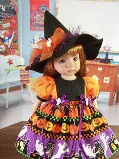 """""""Spooky Halloween"""" Made for 13"""" Effner Little Darling ~ by TDDesigns"""