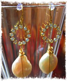 Bohemian Cowgirl Wedding Crystal and Pearl by LivingFreeByEP, $28.00