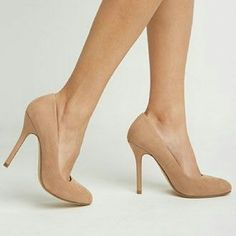 Forever 21 Nude Suede Heels Only worn a few times!  Slight wear on bottoms, but suede is clean and in great condition!  Smoke free and pet free home :) Forever 21 Shoes Heels